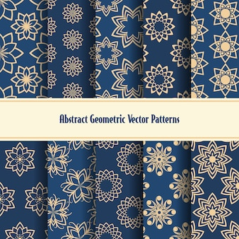 Abstract geometric seamless patterns.