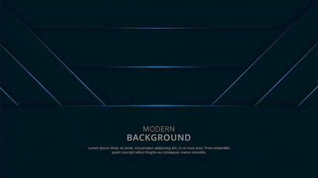 Abstract geometric shape background blue navy dark theme