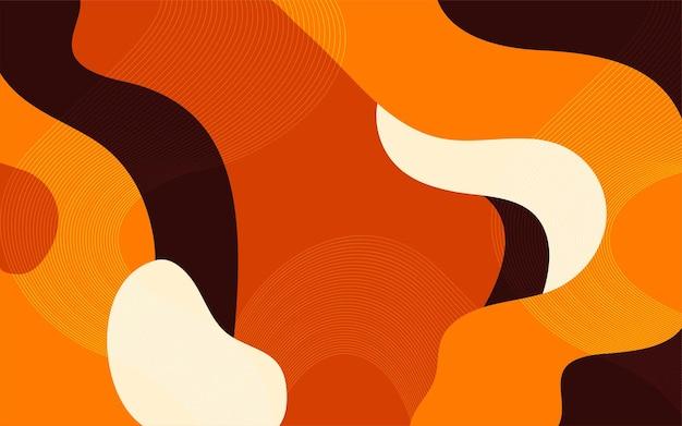 波線と抽象的な幾何学的形状の背景