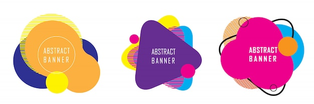 Abstract geometric shape banner