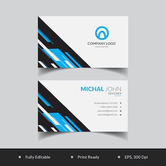 Abstract geometric shape business card template
