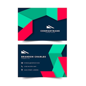Abstract geometric shape of business card template