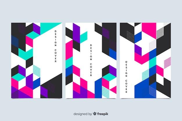Collezione di copertine di forma geometrica astratta