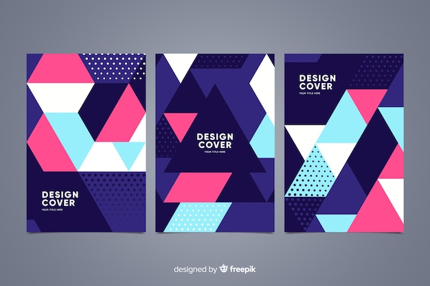 Abstract geometric shape cover collection