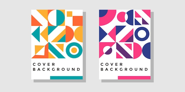 Abstract geometric shape  cover