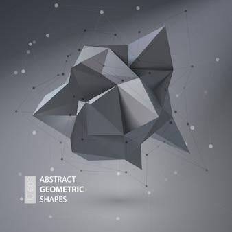 Abstract geometric shape triangular crystal