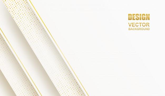 Аннотация. геометрическая форма бело-золотой фон. свет и тень .