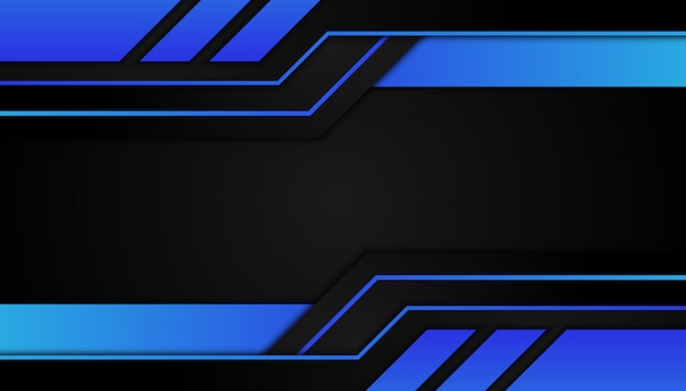 Abstract geometric shapes blue light on sport dark background