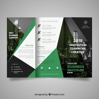 Abstract geometric shapes brochure template