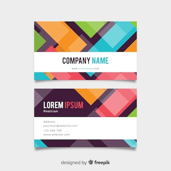 Abstract geometric shapes business card template