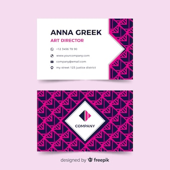 Abstract geometric shapes business card