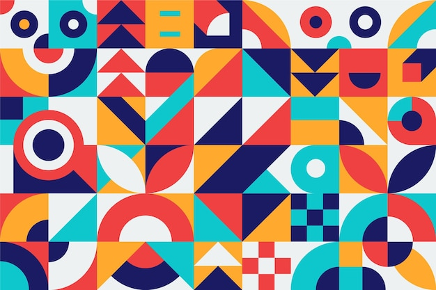 Abstract geometric shapes colorful design