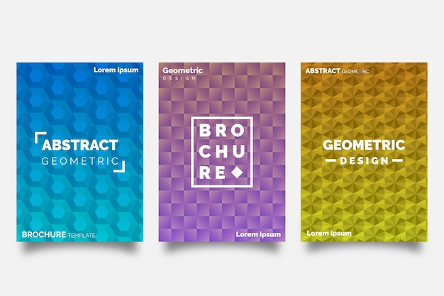 Abstract geometric shapes cover collection concept