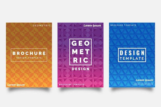 Abstract geometric shapes cover collection theme