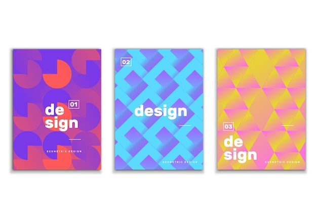 Abstract geometric shapes covers