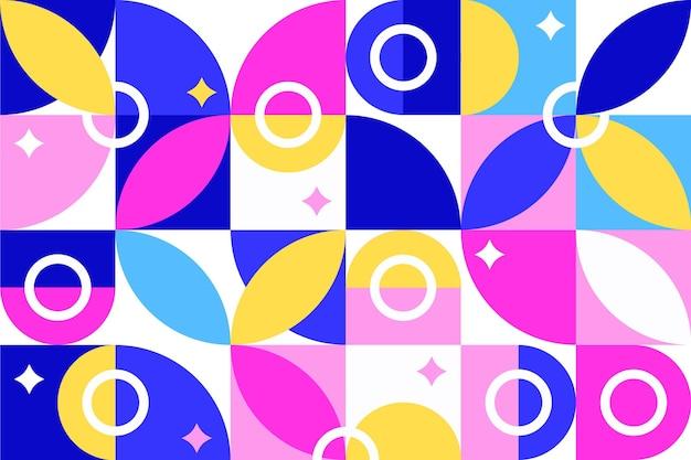 Forme geometriche astratte in design piatto