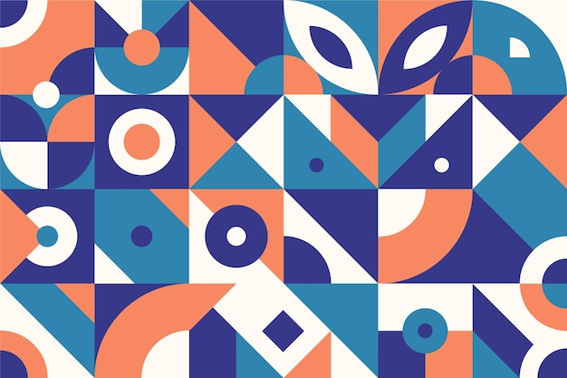 Abstract geometric shapes flat design