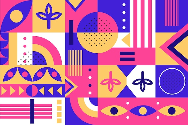 Abstract geometric shapes in flat design