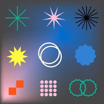 펑키 세트의 추상적인 기하학적 모양