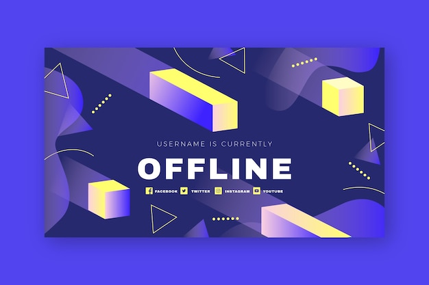 Abstract geometric shapes twitch offline banner
