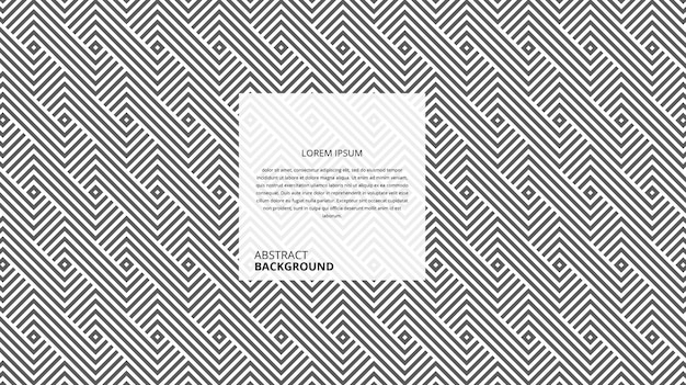Abstract geometric square lines pattern