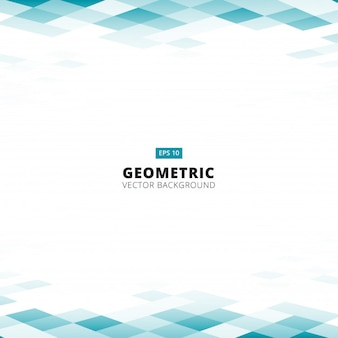 Abstract geometric square pattern blue background
