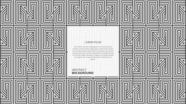 Abstract geometric square shape lines pattern