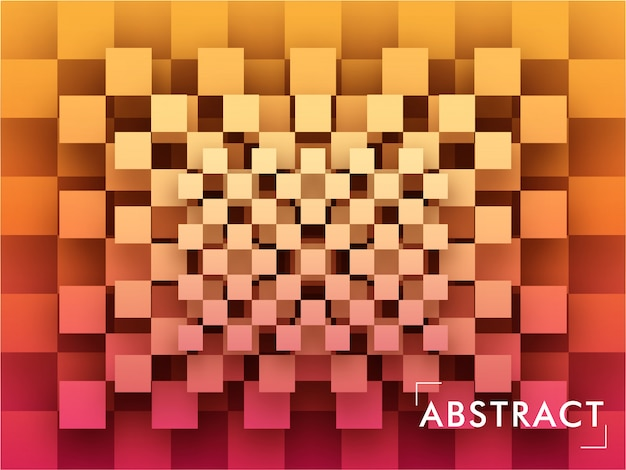Abstract geometric square shape paper cut overlap pattern background.