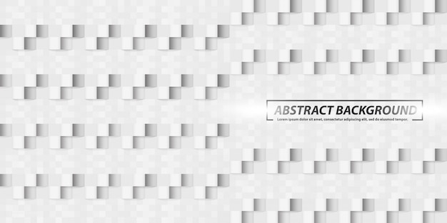 Abstract geometric square shapes grey banner background