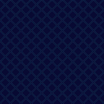 Abstract geometric squares seamless pattern blue background