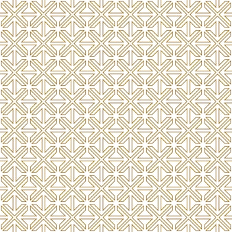 Abstract geometric stripe pattern seamless gold luxury and white background.