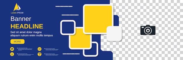 추상적인 기하학적 스타일 가로 배너, 소셜 미디어 표지, 책자, 쿠폰 벡터 디자인 서식 파일