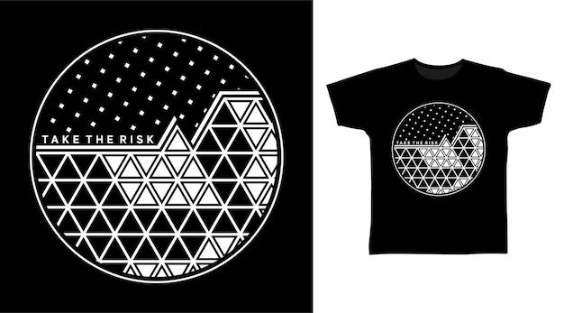 抽象的な幾何学的なtシャツのデザイン