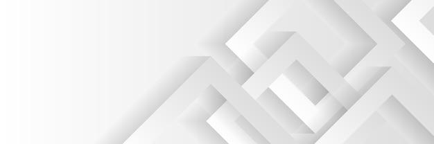 白と灰色の矢印で抽象的な幾何学的な技術のバナーデザイン。