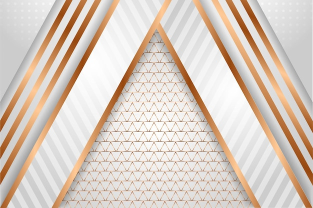 Abstract geometric template with combination grey white gradient and gold color element