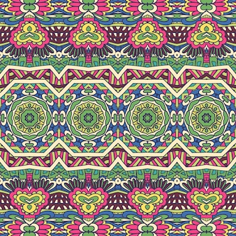 Abstract geometric textile seamless pattern ornamental colorful carnival