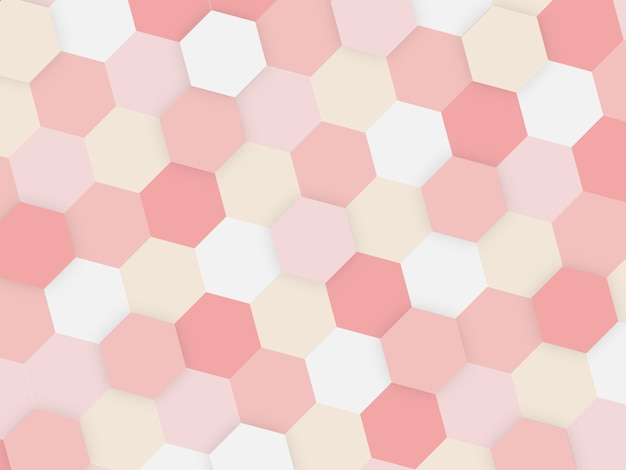 Abstract geometric tile honeycomb texture, colorful polygon, technology concept background.