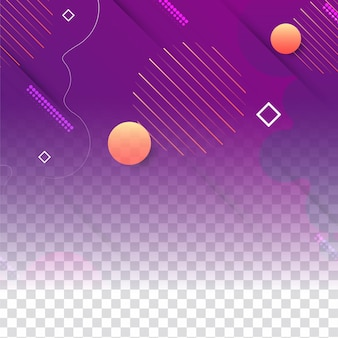Abstract geometric transparent background