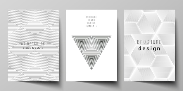 Abstract geometric triangle design background using different triangular style patterns