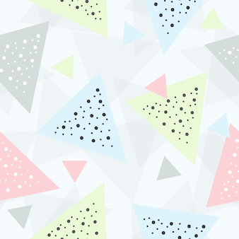 Abstract geometric triangle seamless pattern background