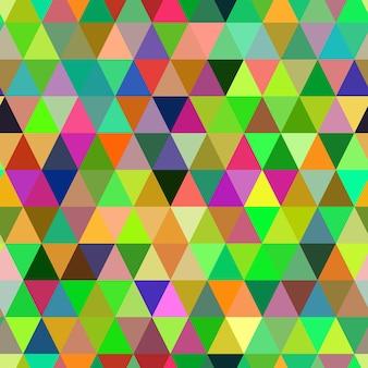 抽象的な幾何学的な三角形のシームレスなパターン。カラーモザイクの背景。ベクトルの背景。 eps10。