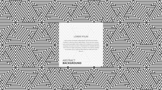 추상적 인 기하학적 삼각형 모양 라인 패턴