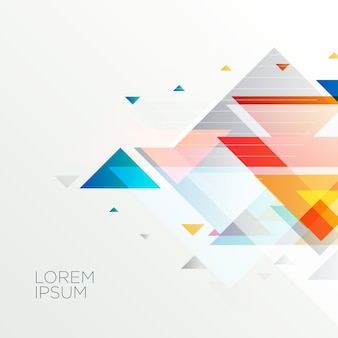 Abstract geometric triangle shapes background