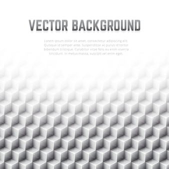 Abstract geometric vector background with 3d cubes