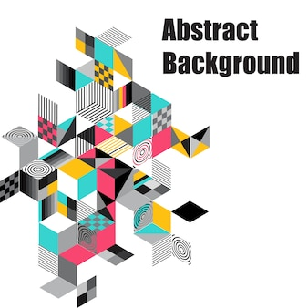 Abstract geometric vector background