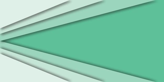 3 dスタイルの緑の線で抽象的な幾何学的なベクトル。
