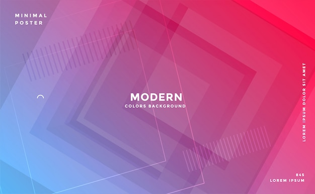 Abstract geometric vibrant modern banner design