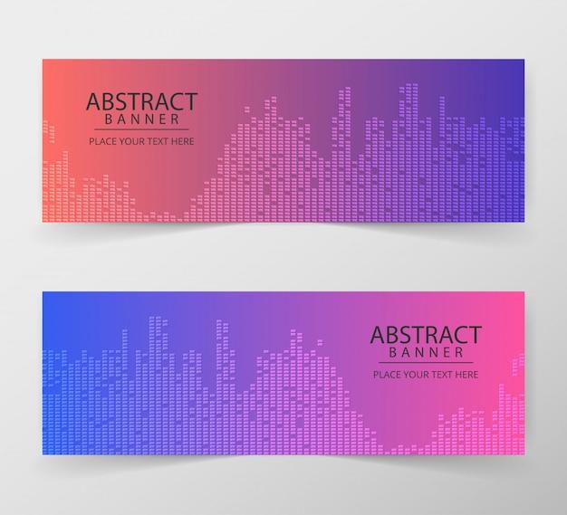 抽象的な幾何学的なwebデザインバナーテンプレート。