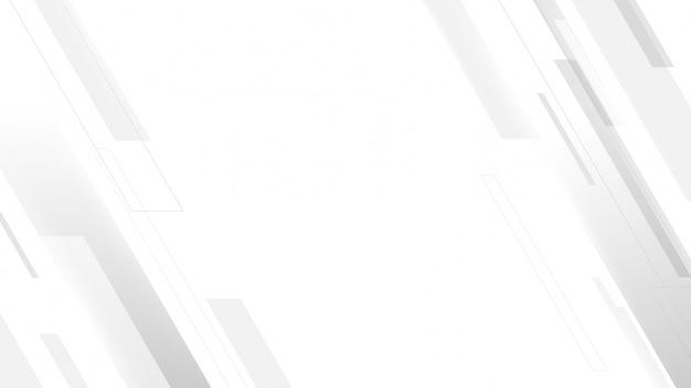 抽象的な幾何学的な白とグレーの色の背景。テクノロジーデジタルハイテク