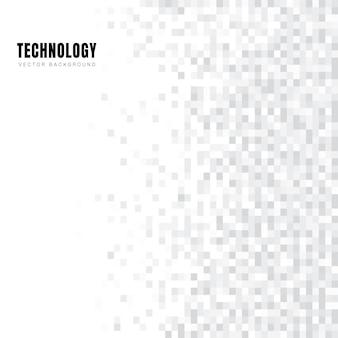 抽象的な幾何学的な白とグレーの正方形のパターンの背景